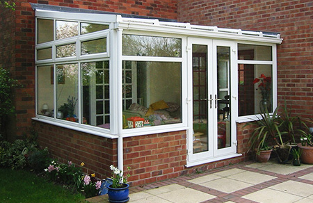 Off the wall conservatory uPVC